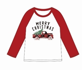 Merry Christmas Red/White 3/4 Sleeve T-Shirt Assortment and FREE Display