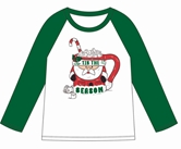 Tis the Season Green/White 3/4 Sleeve T-Shirt Assortment and FREE Display