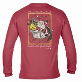 Merry Christmas To All Crimson Long Sleeve T-Shirt Assortment & FREE Disp