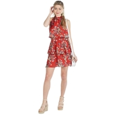 Pacey Flounce Dress Red-3A