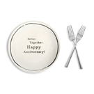"Anniversary SharinPlate&Forks Set-8""dia."