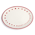 Merry Christmas Oval Platter - 15x11