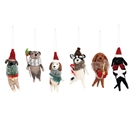 Holiday Felted Wool Dog Ornaments 6A