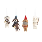 Cozy Felted Wool Dog Ornaments- 4A