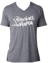 Baseball Mama Premium Heather Dark Grey V-Neck T-Shirt Assortment