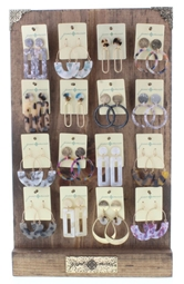 Saylor Earrings Collection, 2 each of 16 styles and FREE Display