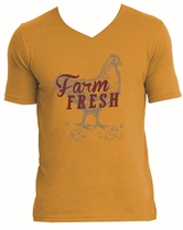 Farm Fresh Antique Gold V-Neck T-Shirt Assortment