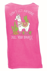 Don't Let Anyone Dull your Sparkle Neon Pink Tank Top Assortment