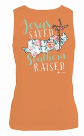 Jesus Saved Southern Raised Melon Tank Top Assortment