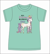 Be A Unicorn in a Field of Horses Mint T-Shirt Assortment