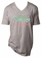 Happy Spring Steel Grey V-Neck T-Shirt Assortment