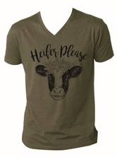 Heifer Please Military Green V-Neck T-Shirt Assortment