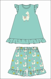 Llama Pajama Short Set Assortment and FREE Display