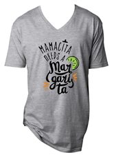 Mamacita Needs a Margarita Steel Grey V-Neck T-Shirt Assortment