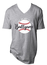 Take Me Out to the Ballgame Steel Grey V-Neck T-Shirt Assortment