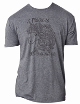 Magic is All Around Us Premium Heather Dark Grey Crew Neck T-Shirt Asst