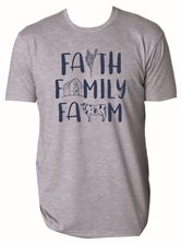 Faith Family Farm Steel Grey Crew Neck T-Shirt Assortment