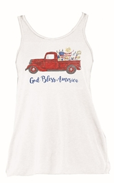 God Bless America White Triblend Tank Top Assortment