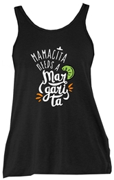 Mamacita Needs a Margarita Black Triblend Tank Top Assortment
