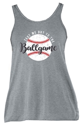 Take Me Out to the Ballgame Athletic Heather Triblend Tank Top Assortment