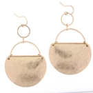 Gold Partial Circle Drop Dangle