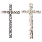 Wood Cross With Pearls