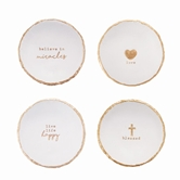 Paz•Itive Gold Foil Trinket Dishes