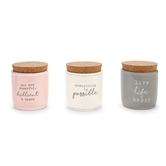 Paz•Itive Ceramic Cork Candles