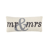 Mr. & Mrs. Hooked Pillow