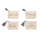Bridal Canvas Pom-Pom & Tassel Pouches