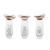 Sentiment Stemless Champagne Flutes