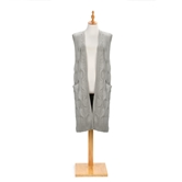 Cable Knit Vest - Taupe