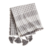 Plaid Tassel Scarves