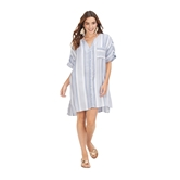 Blue Tanner Striped Cover Up Assortment