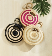 Striped Circle Clutches