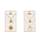 Coin Layering Necklace Sets