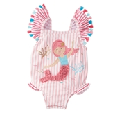 Mermaid One-Piece Swimsuit Toddler Kit