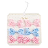 Gingham Bitty Bow Set