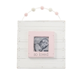 Pink So Loved Garland Frame