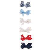 Red & Blue Bitty Bow Set