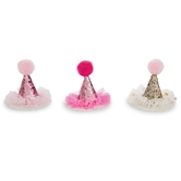 Glitter Party Hat Clips