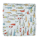Fishing Muslin Swaddle Blanket