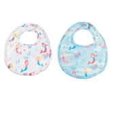 Mermaid Muslin Bib & Spoon Set