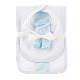 Blue Burp, Bib & Sock Set