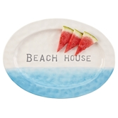 Beach House Ombre Oval Platter