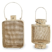 Small Cream Tin Lanterns