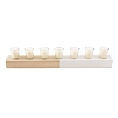 Paulownia Candle Holder Set