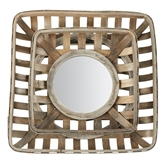 Tobacco Basket Mirror Set