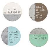 Beach House Coaster Set