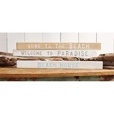 Beach Wood Sentiment Sticks